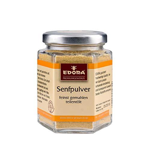 Premium Qualität Gewürz EDORA Senfpulver feinst gemahlen Senf teilentölt 90 Gramm
