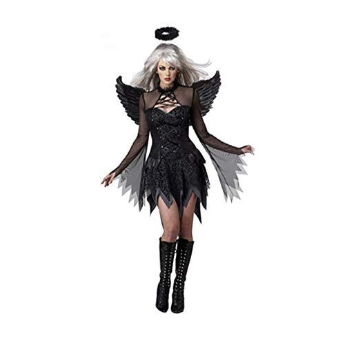 W&G volwassen kinderen modellen, nacht engel kostuums, halloween rol spelen kostuums, demon engel kostuum nachtclub kostuums, volwassene, S