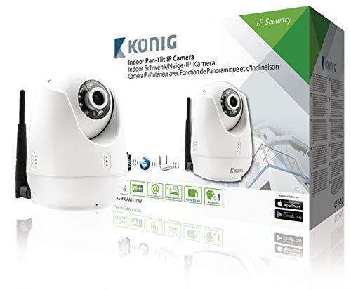 König SAS-IPCAM110W Indoor Zwenk/kantel-IP-camera voor videobewaking op afstand wit