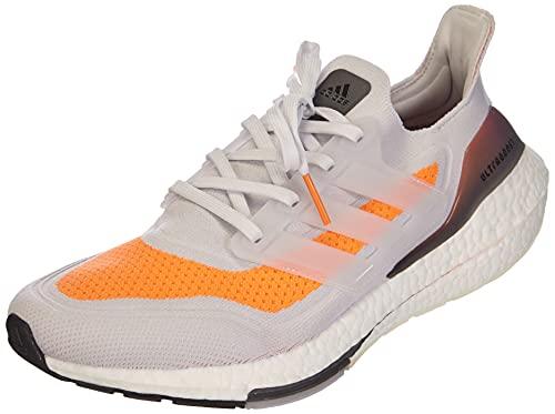 adidas Ultraboost 21, Zapatillas para Correr Hombre, Dash Grey/Dash Grey/Screaming Orange, 44 EU