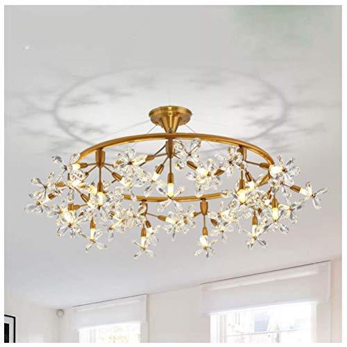 Kroonluchter Nordic slaapkamer kristal vlinder hanglamp postmoderne eenvoudige woonkamer plafondverlichting restaurant Firefly lamp lichten (grootte: 100 cm)