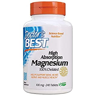 Doctor's Best High Absorption Magnesium Glycinate Lysinate, 100% Chelated, TRACCS, Not Buffered, Headaches, Sleep, Energy, Leg Cramps, Non-GMO, Vegan, Gluten Free, Soy Free, 100 mg, 240 Tablets (B000BD0RT0) | Amazon price tracker / tracking, Amazon price history charts, Amazon price watches, Amazon price drop alerts