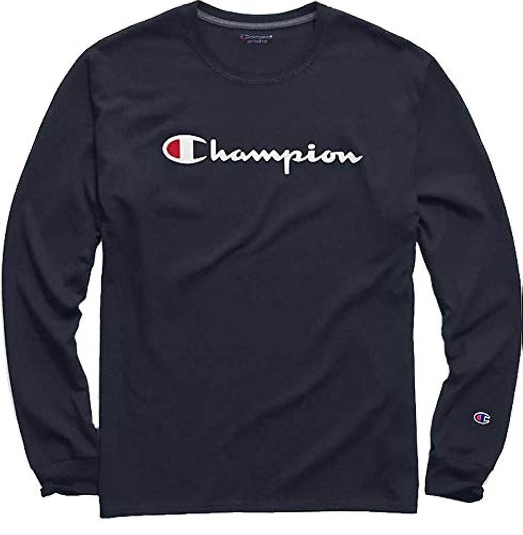 荒廃する祖父母を訪問住人[チャンピオン] メンズ シャツ Champion Men's Chest Script Long Sleeve [並行輸入品]