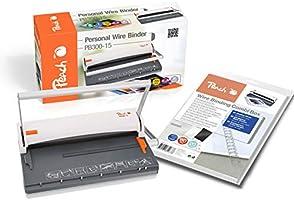 Peach PB300-15 A maszyna do bindowania drutowego | Personal Wire Binder Close DIN-A4| binduje 60 stron |w zestawie 34...