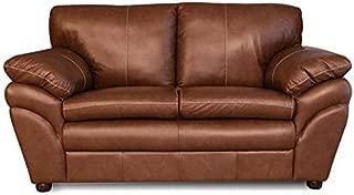 Genuine Leather Loveseat - Delta Collection (Chestnut)