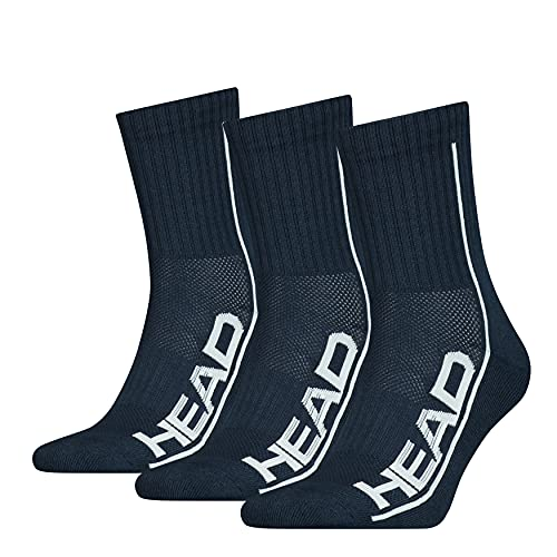 Head Performance Short Crew Socks Calcetines Cortos, Navy, 39 Regular Unisex Adulto