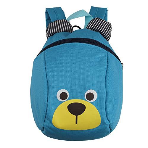 Kinderrucksack TEAMEN® Anti verloren Kinder Rucksack Mini Bär Schule Tasche für Baby Jungen Mädchen Kleinkinder 1-3 Jahre (Hellblau)