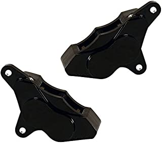 WILWOOD 120-7736/37-BK GP310 FRONT BRAKE CALIPERS, 1984-1999 HARLEY DAVIDSON MOTORCYCLE, BLACK