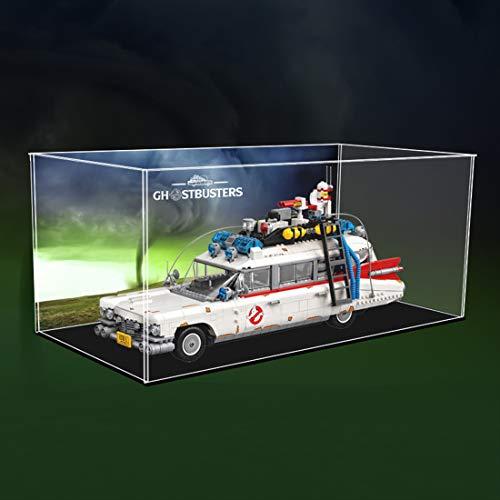 Giplar Vitrina de Acrílico Compatible con Lego 10274 Ghostbusters Ecto-1, Vitrina A Prueba De Polvo Caja de Exhibición (Juego de Modelo No Incluido)