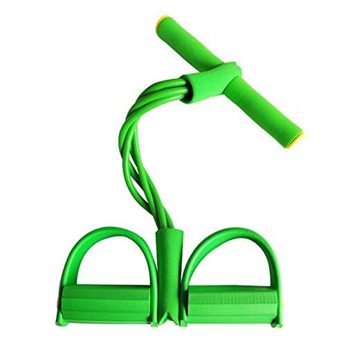 Vogatore per esercizi a casa resistenza addominale resistenza elastica corda per tiro palestra allenamento sportivo banda elastica pedale fitness - Verde