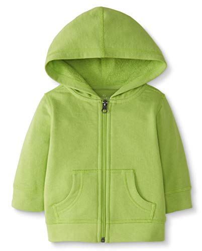 Moon and Back de Hanna Andersson - Jersey con capucha para bebé, Verde lima (Lime Green), 3-6 messes (56-67 CM)