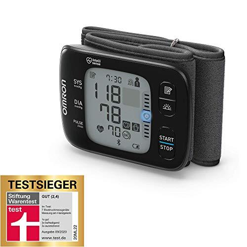 OMRON RS7 Intelli IT Handgelenk-Blutdruckmessgeräte, Testsieger Stiftung Warentest 09/2020, mit Positionierungssensor und Bluetooth-Funktion
