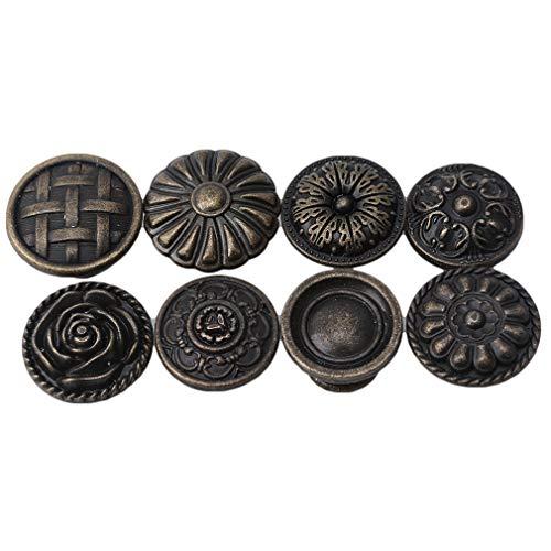 #N/A Rlmobes Mini Schublade zieht Knöpfe Möbel Schrank Schrank Kommode Bronze Runde Vintage Kommode zieht,Nr. 10 31 * 23 mm