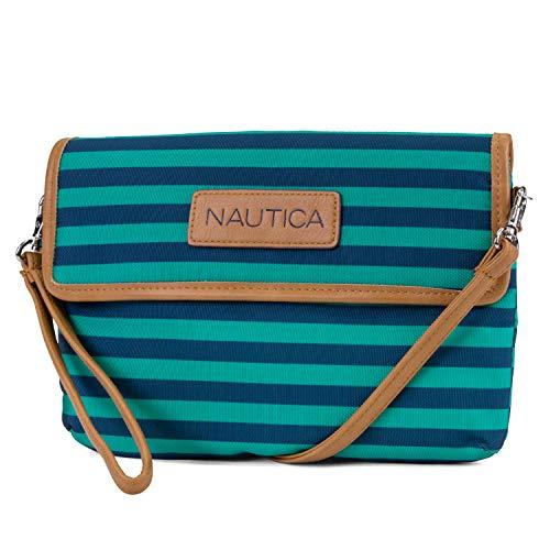 Nautica Damen Crossbody Wallet Wristlet Clutchh, Spectra Green, Einheitsgröße