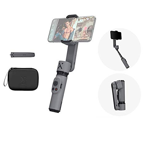 Zhiyun Smooth X Gimbal Stabilizer Combo Kit Gray for Smartphone w/Selfie Stick Tripod, Face Tracking, Bluetooth, Gesture, YouTube Vlog Video, Zoom