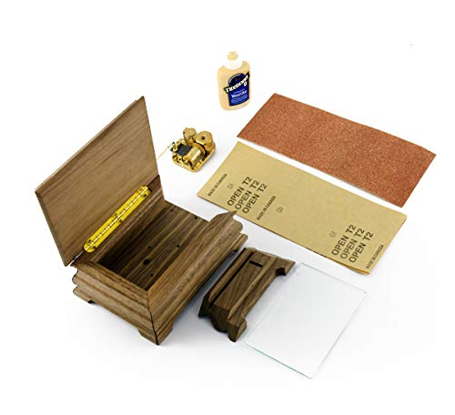 MusicBoxAttic Do It Yourself - Kit de Caja de música Liberty con 18 Movimientos de Notas, más de 400 Opciones de Canciones, Madera, 159. Here Comes The Sun