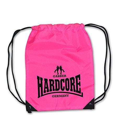 Turnbeutel Hardcore Gabber Germany NEONPINK Gabba Unisex Beutel Rucksack Bag