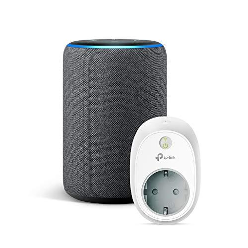 Amazon Echo (3ª generazione) - Tessuto antracite +TP-Link HS100 Presa intelligente Wi-Fi,...