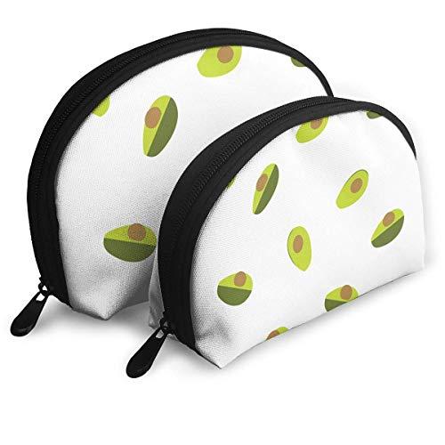 XCNGG Bolsa de almacenamiento Fruta Aguacate Patrón sin costuras Bolso portátil de maquillaje de viaje Bolsas de almacenamiento organizador de artículos de tocador impermeables