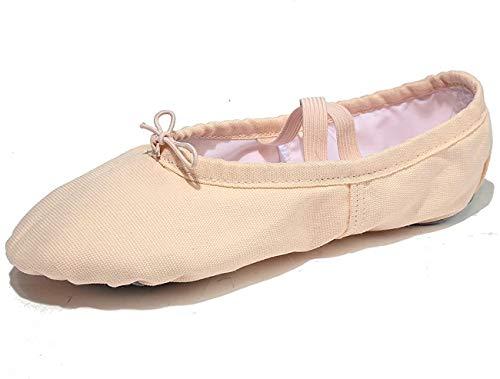 Lilys Locker- Zapatillas de Ballet clásico de Suela Partida Zapatillas Media Punta de Ballet Danza para Niña y Adultos(33, Rosa Claro)