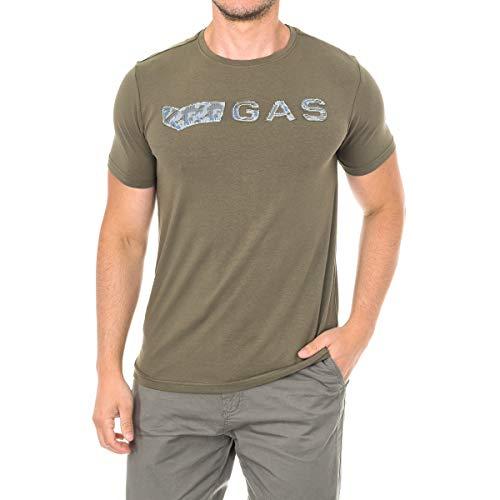 Gas GATS01JUNGLE AB30 T-Shirt Maniche Corte Uomo Verde Green Jungle M