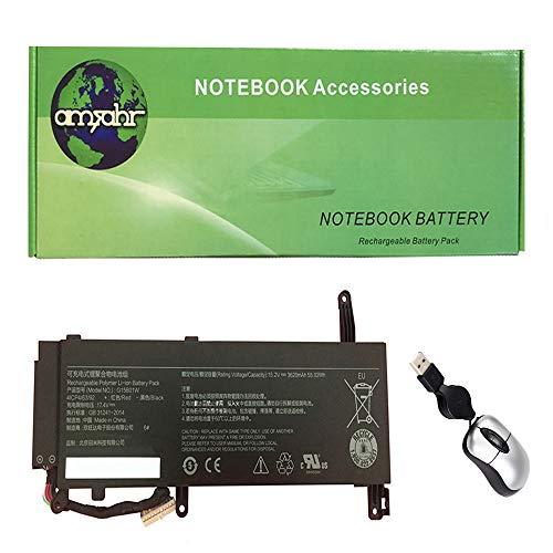 Amsahr vervangende laptop batterij voor Xiaomi G15B01W, G15BO1W, Gaming Laptop 7300HQ 1060 - Omvat Mini Optische muis zwart