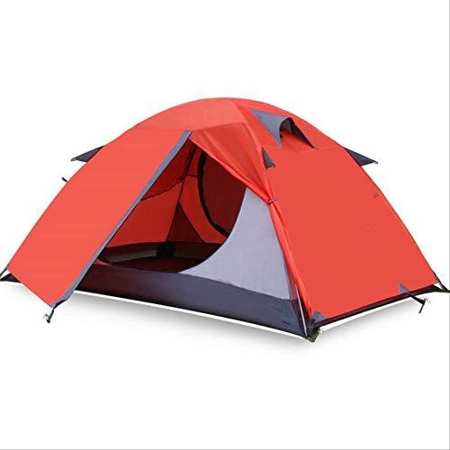 BAJIE Zelt Outdoor Camping Zelt Doppelschicht Ultraleicht 2 Personen Zelt Vier Jahreszeiten Wasserdicht Atmungsaktiv Winterzelt Camping Camping WanderungRot