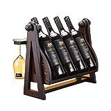 CESULIS Vino Cremallera de una Pieza botellero de Madera de la decoración del hogar de Madera Estante del Vino Cremallera de Almacenamiento en Rack Servicio de Vino Exhibición del Vino