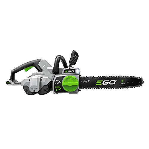 EGO Power+ CS1804 18-Inch 56-Volt Cordless Chain Saw 5.0Ah Battery and Charger Included