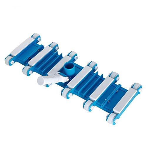 Greatangle Reinigungswerkzeug für Schwimmbecken 19-Zoll-Saugkopf in Blau und Weiß Saugkopf für Schwimmbecken Reinigungsspitze - Blau Weiß