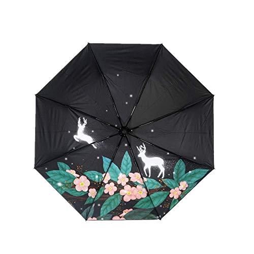 YNHNI Paraguas Plegables SunUmbrella Rain and Sunshine Triple Doble Sombrilla Sol Protección Solar,Portátil (Color : Pink)