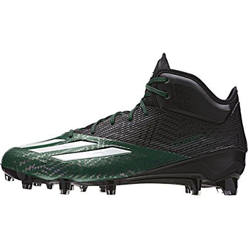 adidas Adizero 5-Star 5.0 Mid Mens Football Cleat 13 Black/White/Dark Green