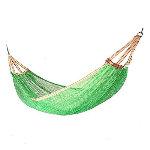 EEUK Hamaca de Camping Hamaca de Seda de Hielo Columpio Cama al Aire Libre Doble Persona Transpirable Ligero Portátil Capacidad de Carga 250 Kg 200 X 150cm