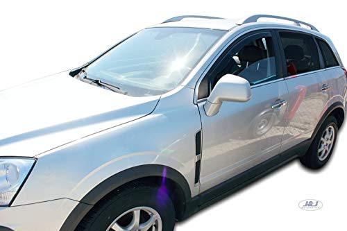J&J AUTOMOTIVE | Deflecteurs d'air déflecteurs de Vent Compatible avec Opel Antara 2007-prés 2 pièces