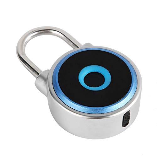Pwshymi Smart Lock Bloqueo de Huella Digital portátil sin Llave Bloqueo de contraseña Bloqueo antirrobo para el hogar para Oficina para el hogar