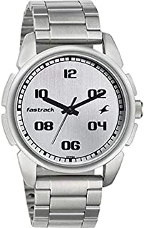 Fastrack Casual Men's Silver Dial Stainless Steel Band Watch - T3124SM01