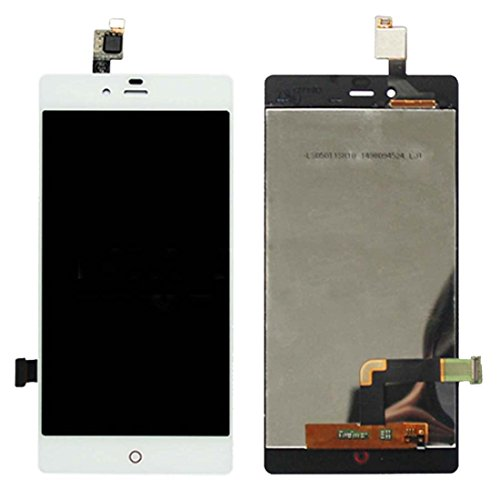 Senden Nach-Test IPartsBuy LCD-Bildschirm + Touchscreen-Digitizer-Baugruppe for ZTE Nubia Z9 Mini / NX511J-Zubehör (Color : White)