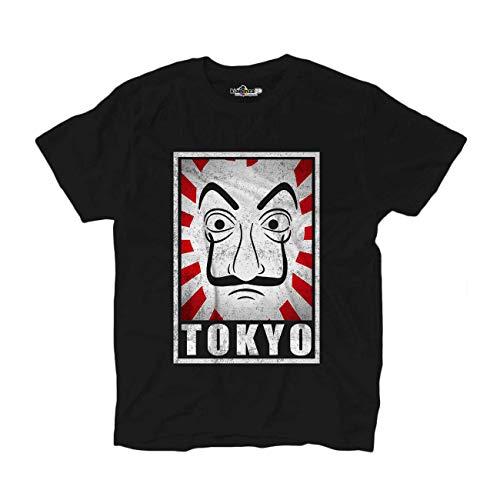 Nobrand - Camiseta Tokio serie TV máscara al profesor Negro M