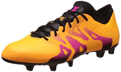 adidas - X 15.1 FG/AG, Uomo, Color Arancione (Solar Gold/Core Black/Shock Pink), Talla 42