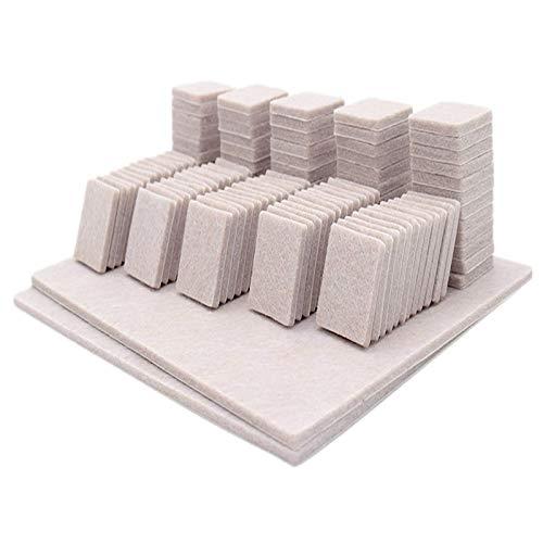 Pies de muebles Almohadillas de muebles, almohadillas de fieltro de muebles, colchonetas de sofá, pies de mesa pegatinas silenciosas pegatinas, autoadhesivo, colchones cuadrados blancos redondos antid