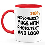 Custom Coffee Mugs Personalized Ceramic Cups Add Picture Create Logo With Text