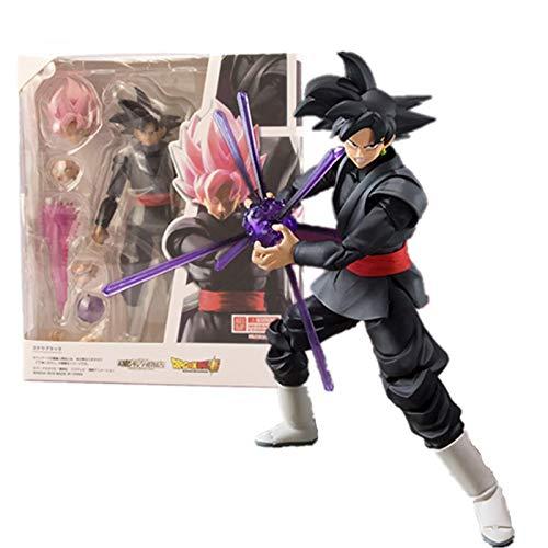 Anime Dragon Ball Demoniacal Fit Goku Black Rose Zamasu PVC Figura De Acción 14Cm, Colecciona Figuras De Dibujos Animados Juguetes Modelo Pascua para Niños