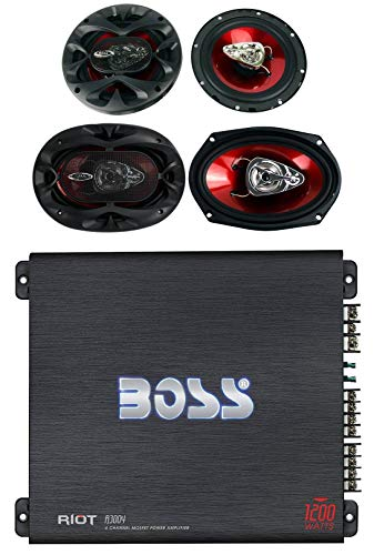 Affordable 2) Boss CH6530 6.5 300W + 2) CH6930 6x9 350W 3-Way Speakers + R3004 1200W Amp