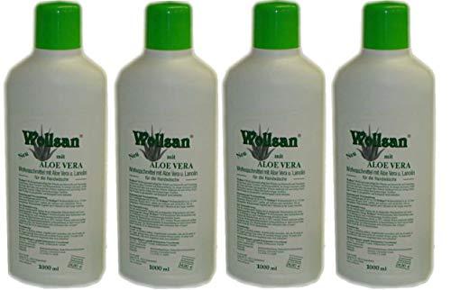 Wollsan Wollwaschmittel mit Aloe Vera und Lanolin (4 x 1.000ml)