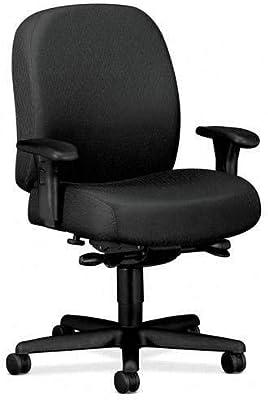 """HON HON3528NT19T Mid-Back Task Chair, 32-1/4"""" x 29-1/2"""" x 43-1/2"""", Charcoal Gray"""