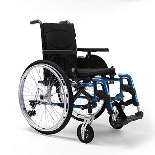 Rollstuhl Leichtes Zusammenklappen des selbstfahrenden Schnellverschluss, Kippschutz, Verstellbarer Sitz, 18 Zoll, Handbremsen