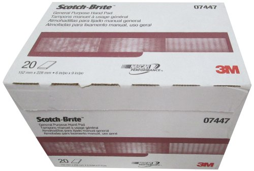 3M 07447 Scotch-Brite Maroon General Purpose Hand Pad,20 Pack