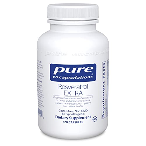 Pure Encapsulations Resveratrol Extra | Supplement to Support Healthy Cellular and Cardiovascular Function* | 120 Capsules