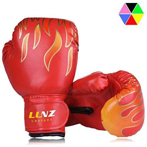 Kinder Boxhandschuhe mit Klettschluss Klein Box-Handschuhe für Kinder von 3 - 10 Jahre Training Gloves 6 Unzen zum MMA, Muay Tha