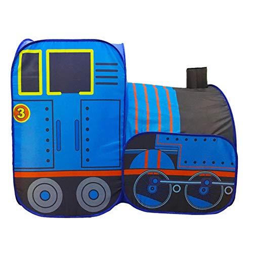 Minimei Carpa para niños con Interior y Exterior: instalación rápida, Tela Resistente a la Intemperie, Carpa Plegable y espaciosa para niños, bebés, niños y niñas - Tren Azul